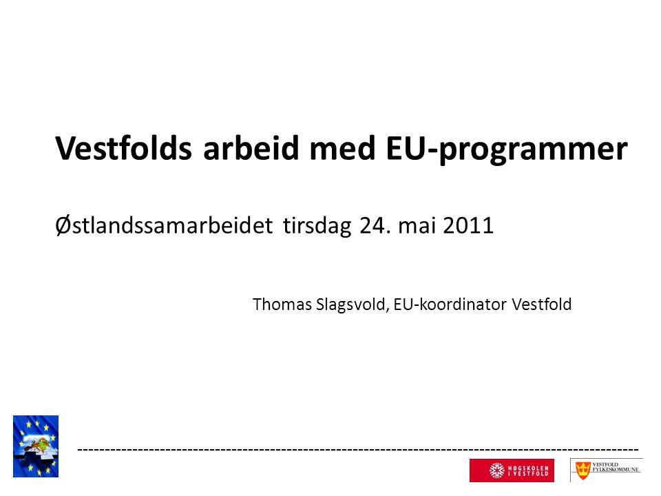 Vestfolds arbeid med EU-programmer Østlandssamarbeidet tirsdag 24.