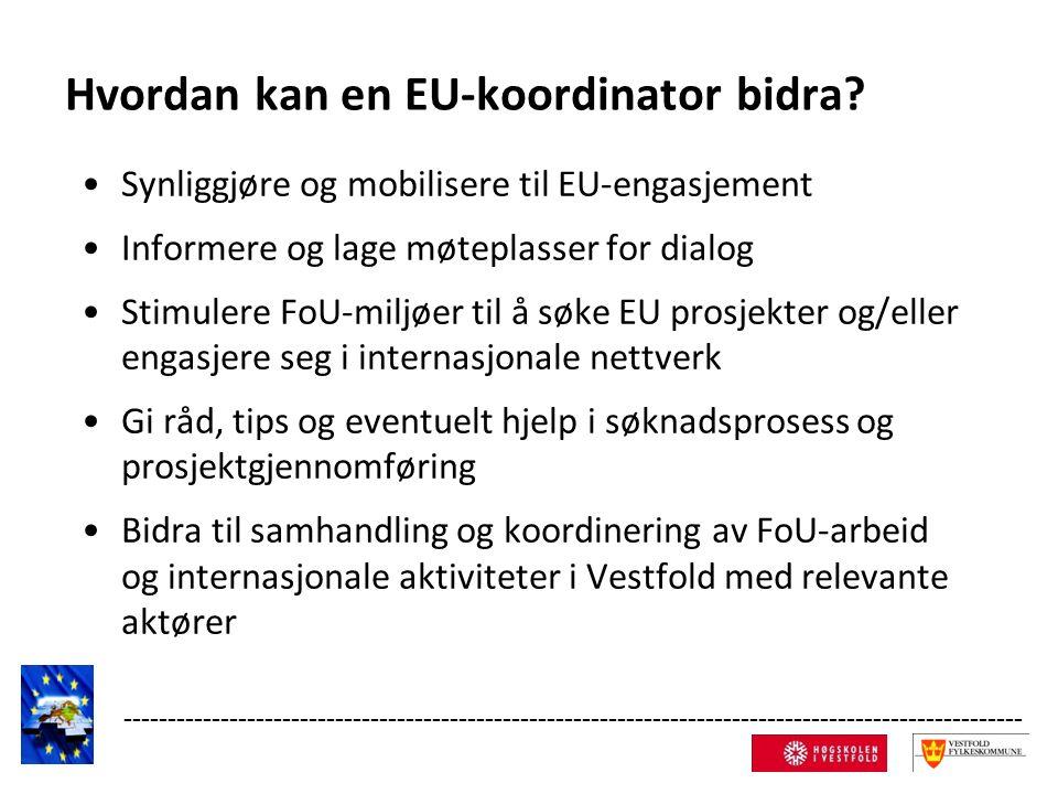 Hvordan kan en EU-koordinator bidra.