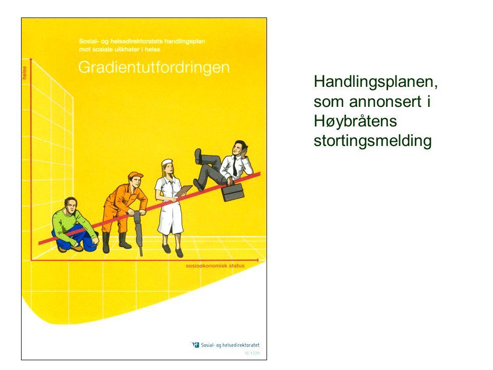 Handlingsplanen, som annonsert i Høybråtens stortingsmelding