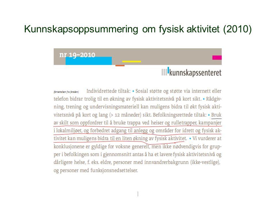 | Kunnskapsoppsummering om fysisk aktivitet (2010)