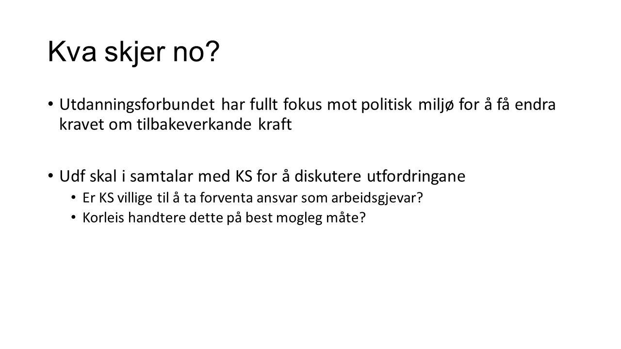 Problemstilling/ døme ung.skule Gunnar; 60 st.p., Lena; master, Arnhild; 30 st.p., Ivar; 15 st.p KlasseTidlegare ordningNy ordning 8AGunnar 8BArnhildGunnar 9AArnhildLena 9BIvarLena 10ALenaGunnar 10BLena