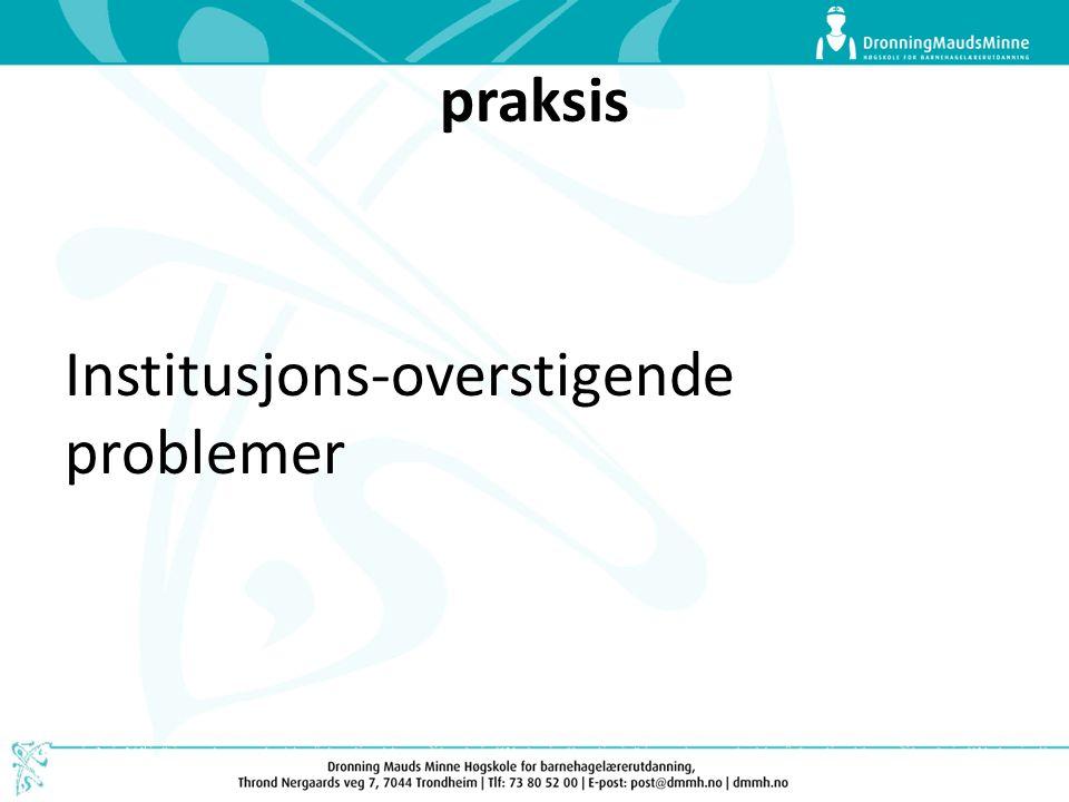 praksis Institusjons-overstigende problemer