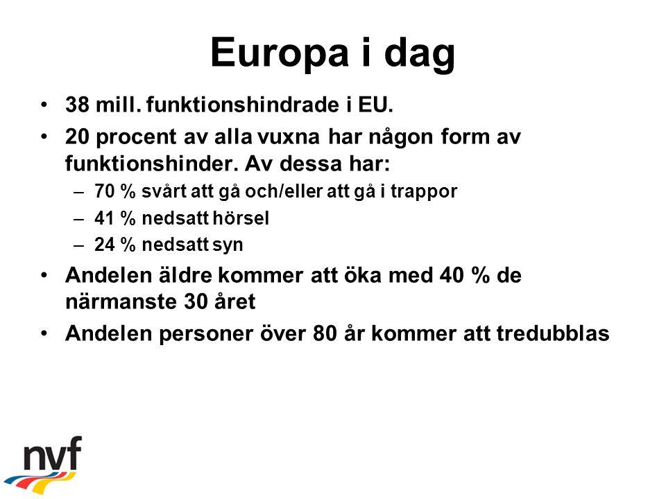 Europa i dag 38 mill. funktionshindrade i EU.