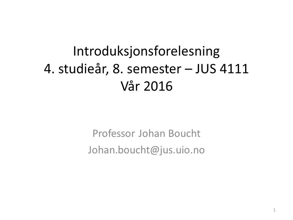 Introduksjonsforelesning 4. studieår, 8.