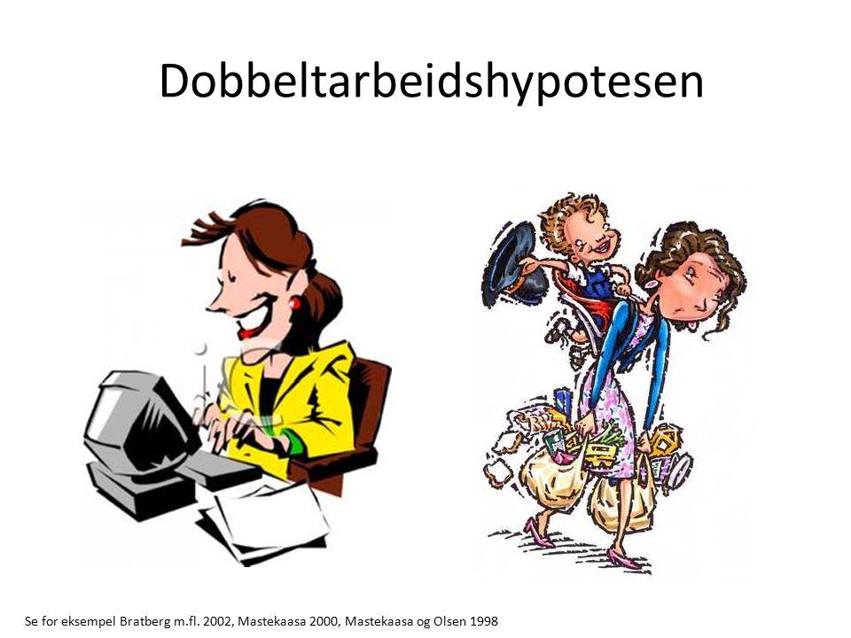 Dobbeltarbeidshypotesen Se for eksempel Bratberg m.fl.