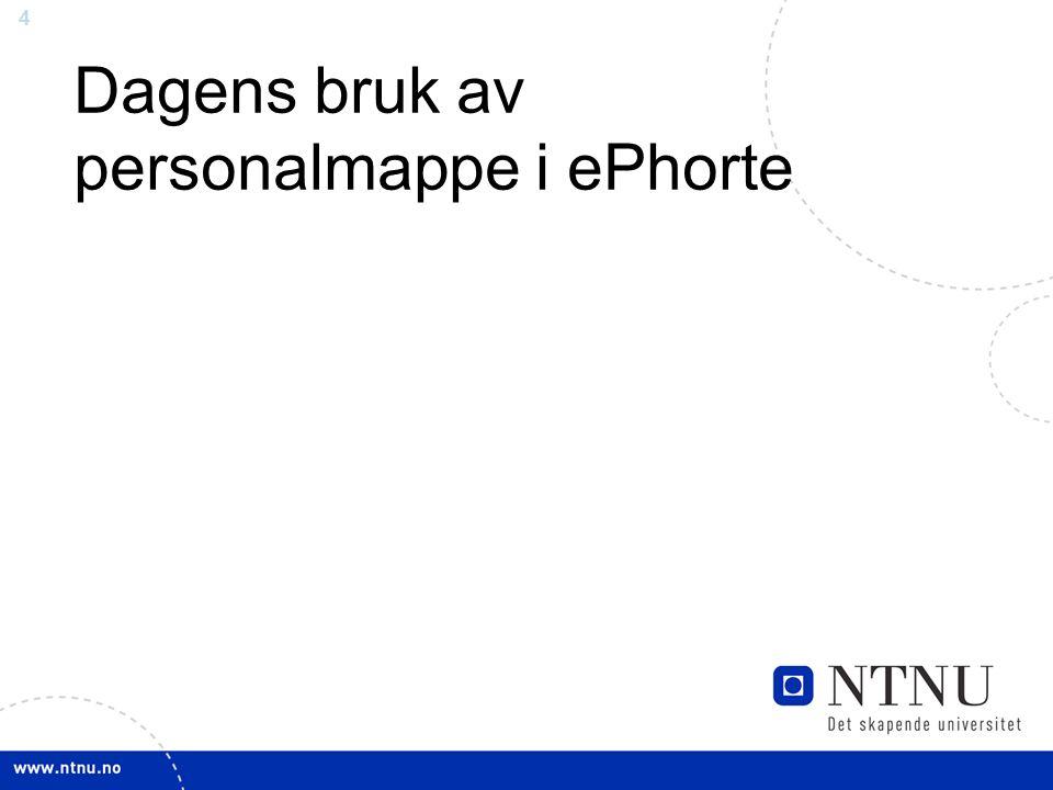4 Dagens bruk av personalmappe i ePhorte