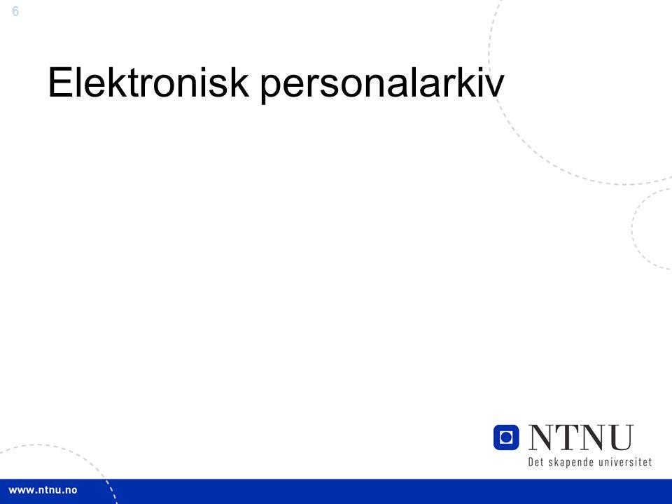 6 Elektronisk personalarkiv