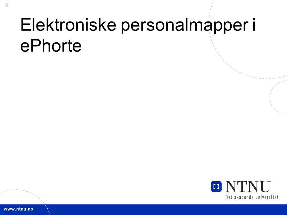 8 Elektroniske personalmapper i ePhorte