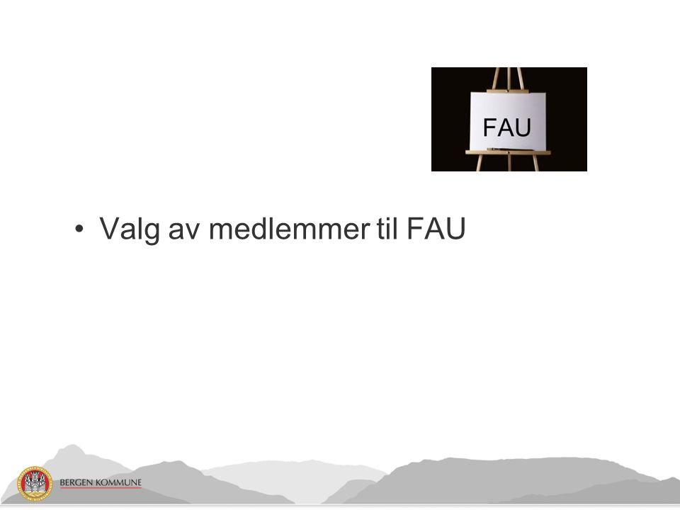 Valg av medlemmer til FAU