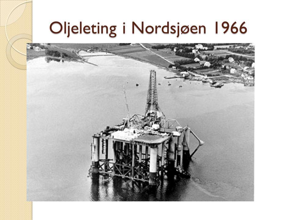 Oljeleting i Nordsjøen 1966