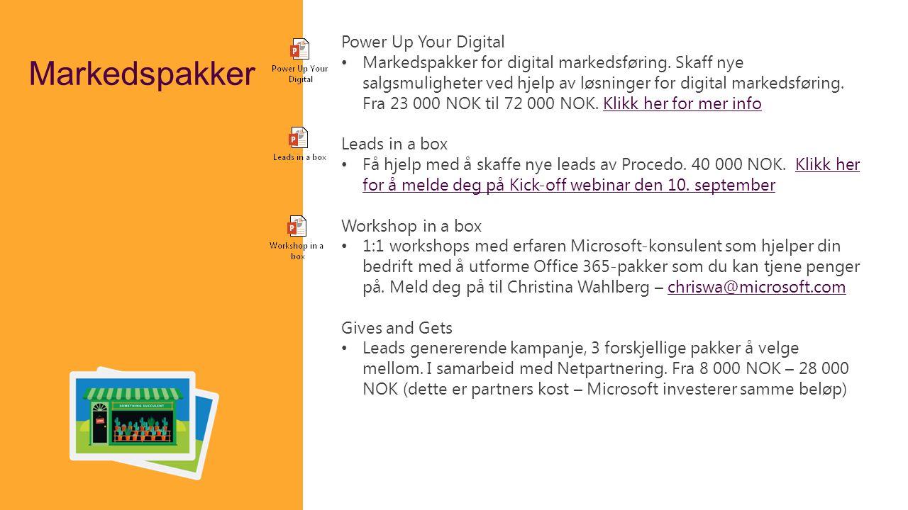 Markedspakker Power Up Your Digital Markedspakker for digital markedsføring. Skaff nye salgsmuligheter ved hjelp av løsninger for digital markedsførin