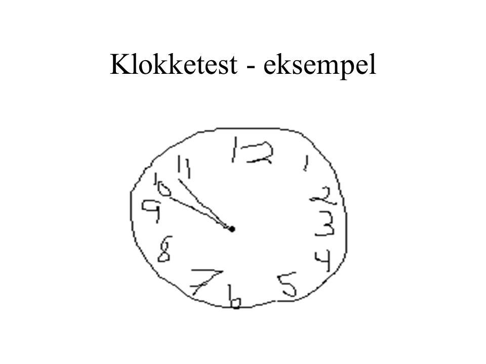 Klokketest - eksempel
