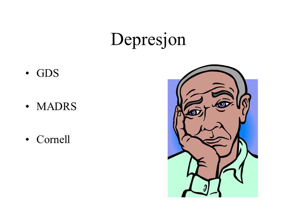 Depresjon GDS MADRS Cornell