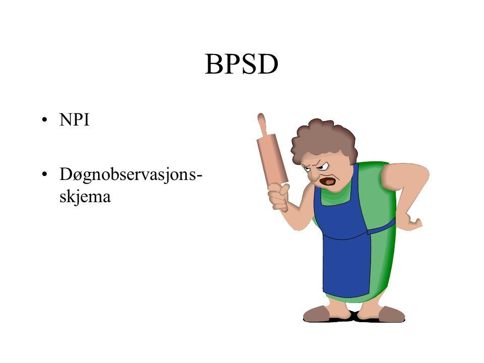 BPSD NPI Døgnobservasjons- skjema