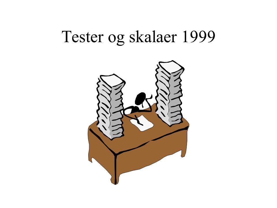 Tester og skalaer 1999
