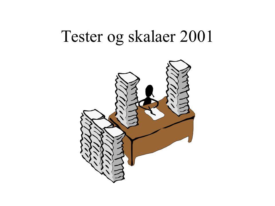 Tester og skalaer 2001