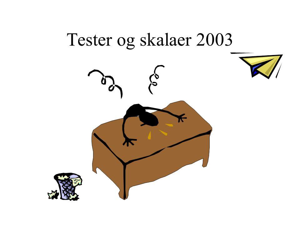 Tester og skalaer 2003