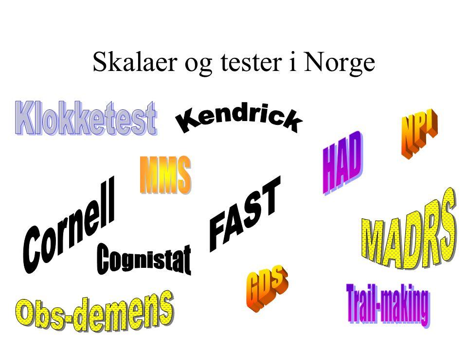Skalaer og tester i Norge