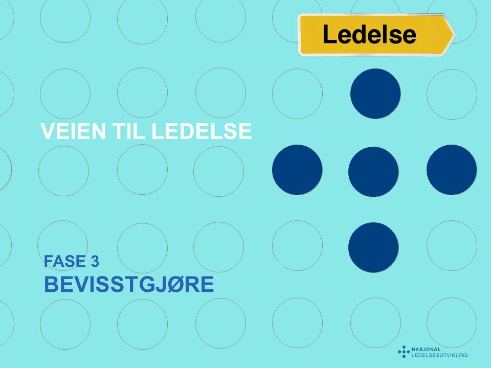 FASE 3 BEVISSTGJØRE VEIEN TIL LEDELSE