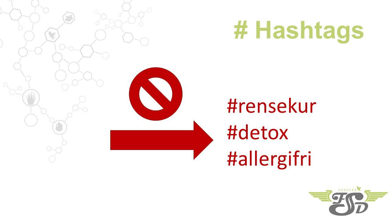 # Hashtags #rensekur #detox #allergifri