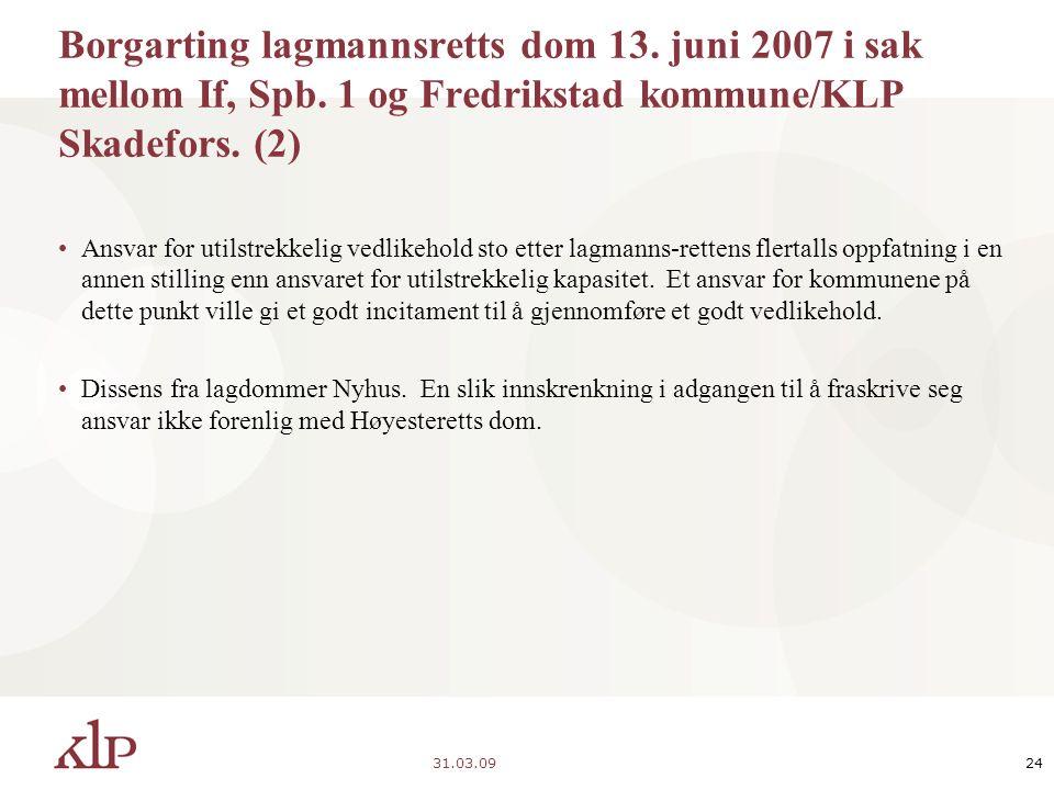 31.03.0924 Borgarting lagmannsretts dom 13. juni 2007 i sak mellom If, Spb.