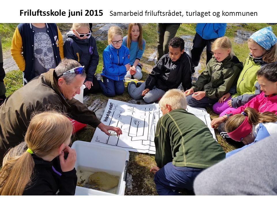 Friluftsskole juni 2015 Samarbeid friluftsrådet, turlaget og kommunen
