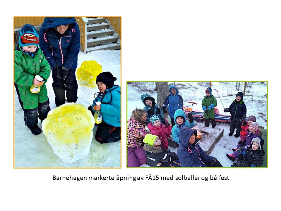 Barnehagen markerte åpning av FÅ15 med solballer og bålfest.