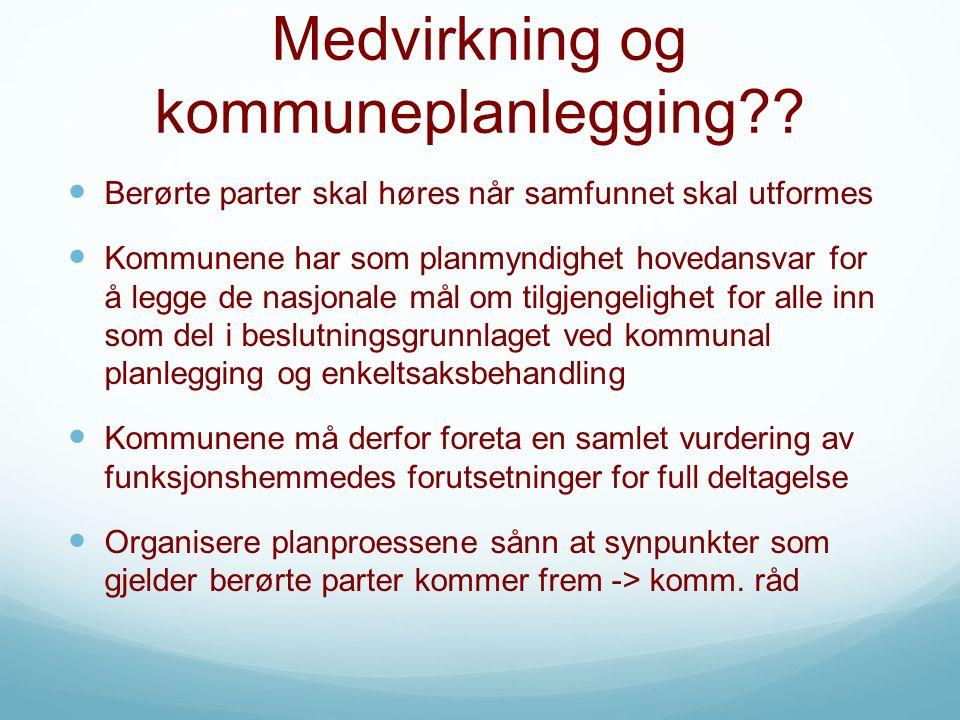 Medvirkning og kommuneplanlegging .