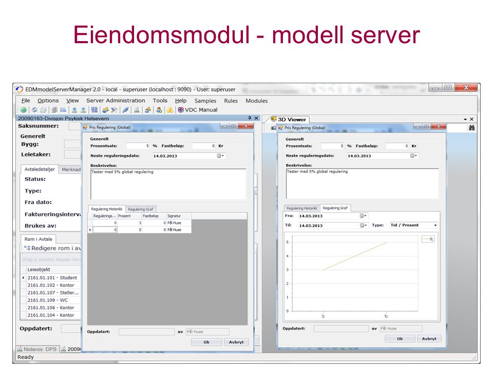 Eiendomsmodul - modell server