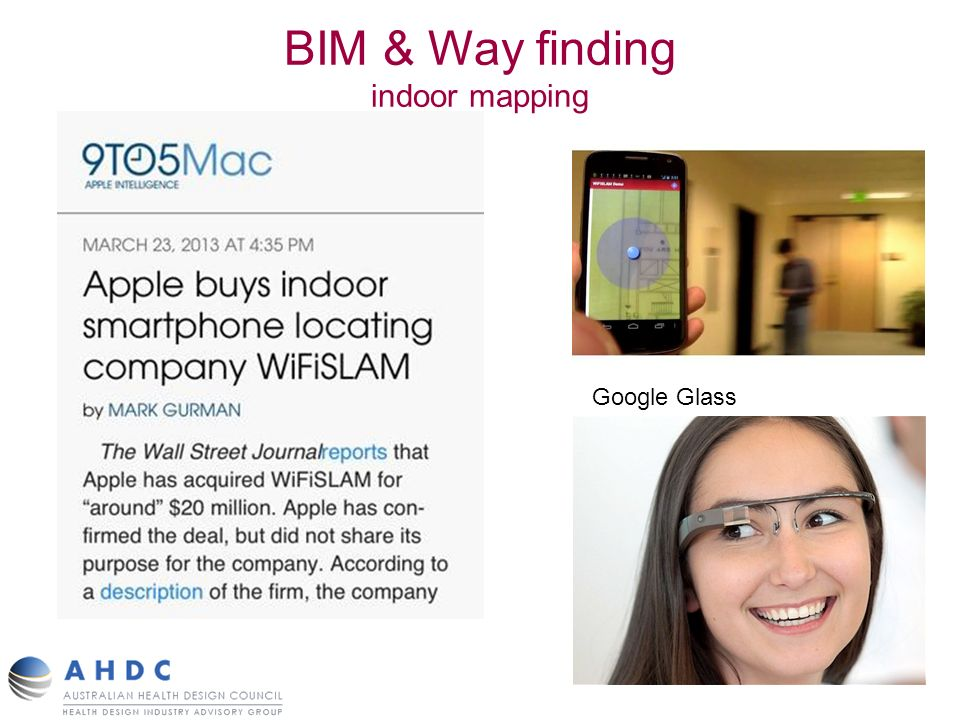 BIM & Way finding indoor mapping Google Glass