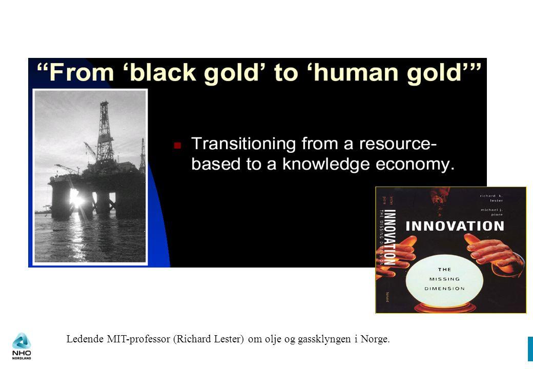 Ledende MIT-professor (Richard Lester) om olje og gassklyngen i Norge.