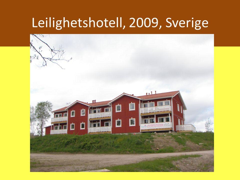 Leilighetshotell, 2009, Sverige