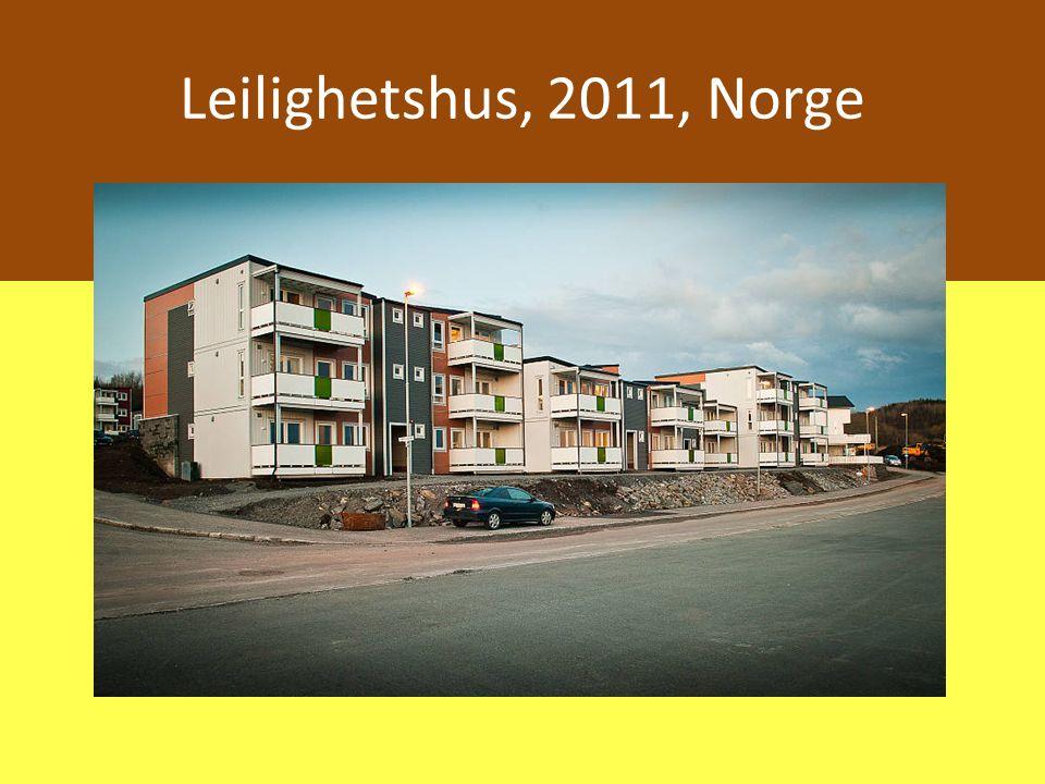 Leilighetshus, 2011, Norge