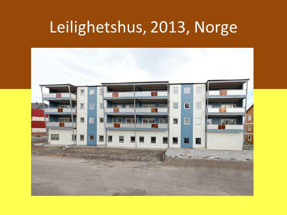 Leilighetshus, 2013, Norge