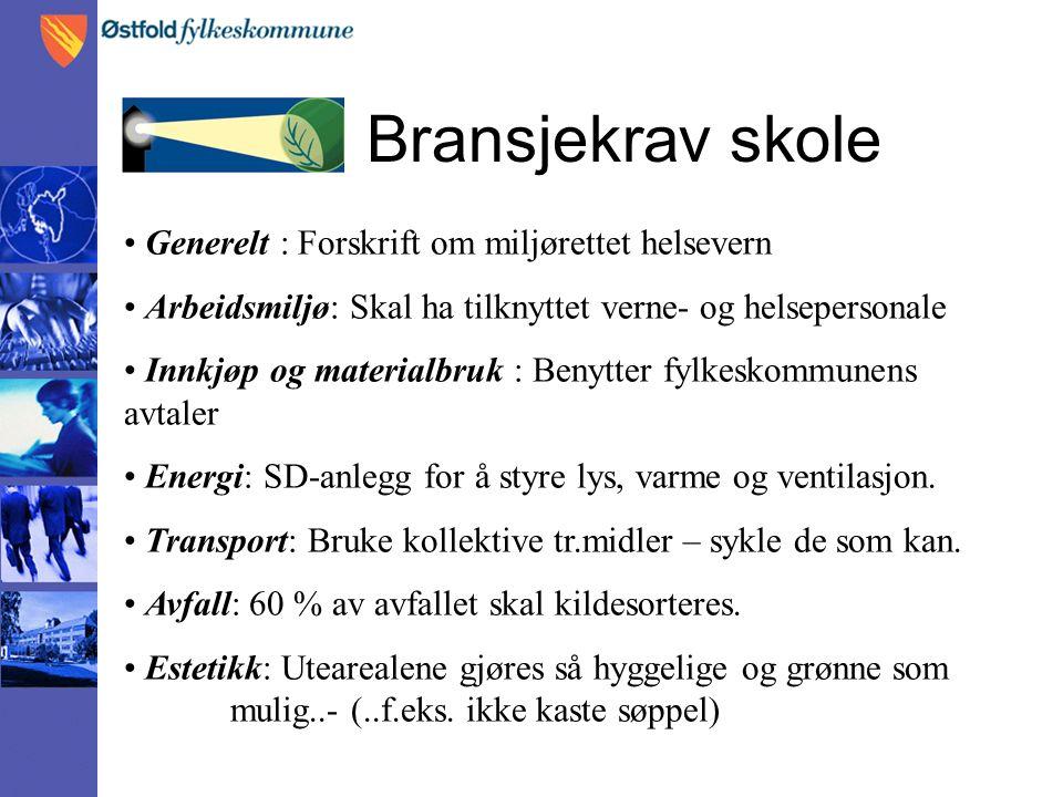 Positive resultater av Miljøfyrtårn Røykfri skole => mer mosjon på enkelte elever og lærere..