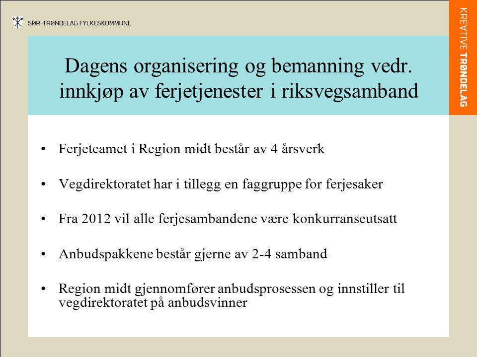 Status for ferjeflåten i region Midt Antall ferjer: 55 Oppfyller kravene til universell utforming:21 Lov om forbud mot diskriminering på grunn av funksjonsevne fra 1.