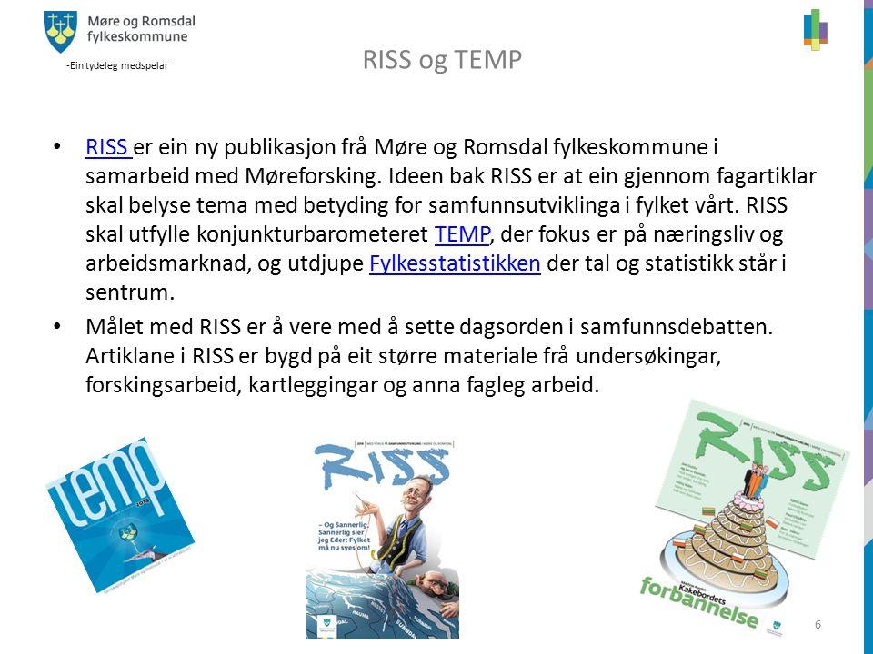 -Ein tydeleg medspelar 6 z RISS er ein ny publikasjon frå Møre og Romsdal fylkeskommune i samarbeid med Møreforsking.