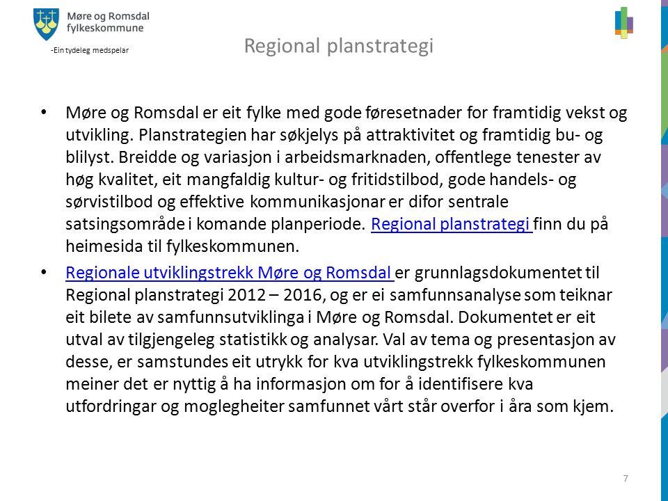 -Ein tydeleg medspelar 7 z Møre og Romsdal er eit fylke med gode føresetnader for framtidig vekst og utvikling.