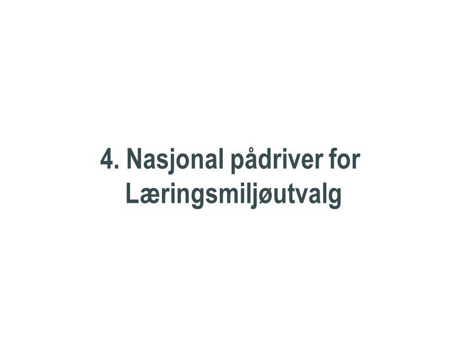 Nasjonal pådriver 4. Nasjonal pådriver for Læringsmiljøutvalg