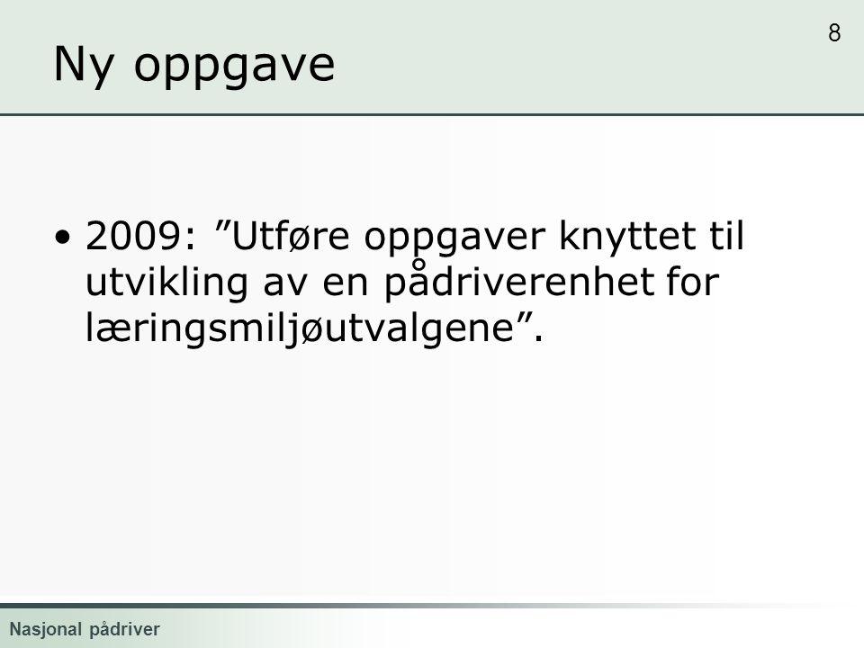 Nasjonal pådriver Læringsmiljø 2.