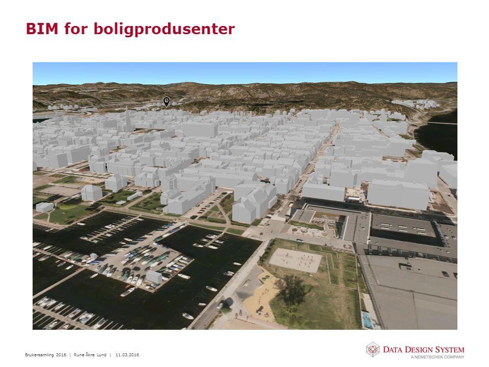 Brukersamling 2016 | Rune Åkre Lund | 11.03.2016 BIM for boligprodusenter