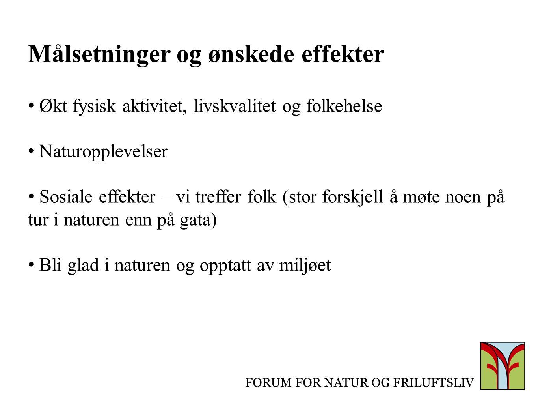 FORUM FOR NATUR OG FRILUFTSLIV Hvor .