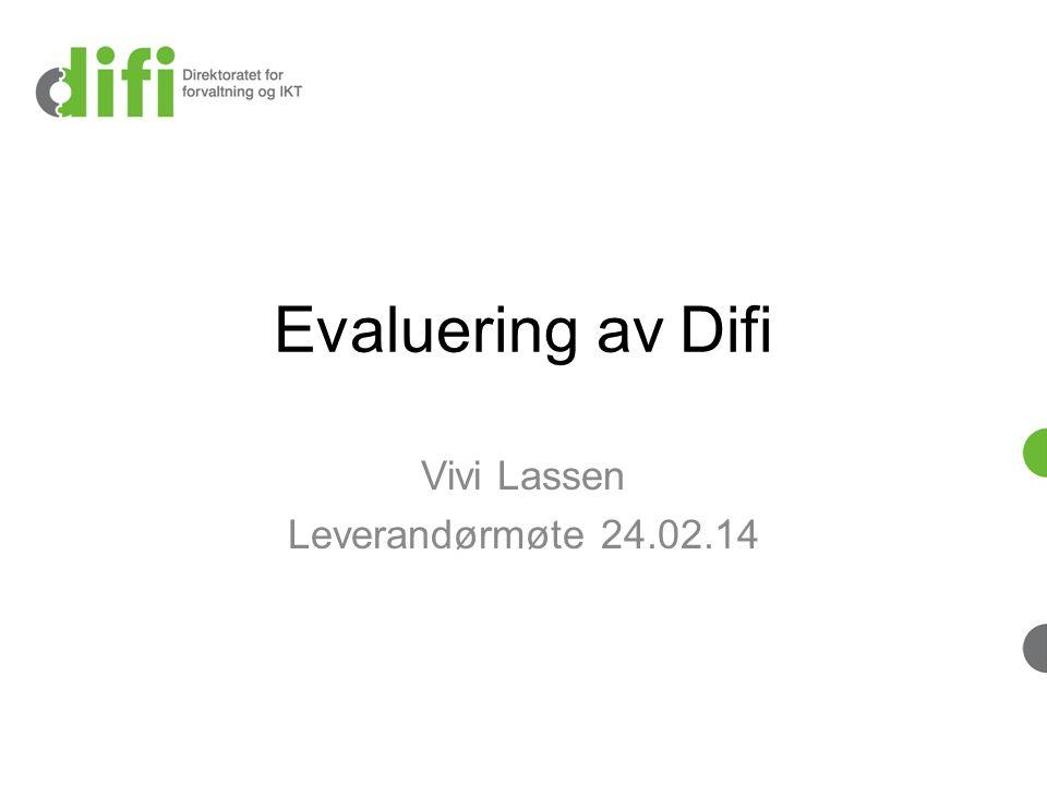 Videre prosess/framdrift Anskaffelse av ekstern evaluator – tilbudsfrist 24.03 kl.