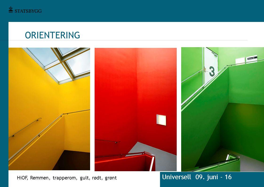 ORIENTERING HiOF, Remmen, trapperom, gult, rødt, grønt Universell 09. juni - 16