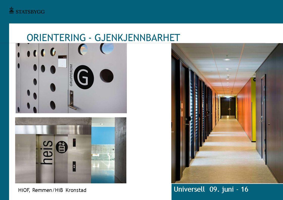 ORIENTERING - GJENKJENNBARHET HiOF, Remmen/HiB Kronstad Universell 09. juni - 16