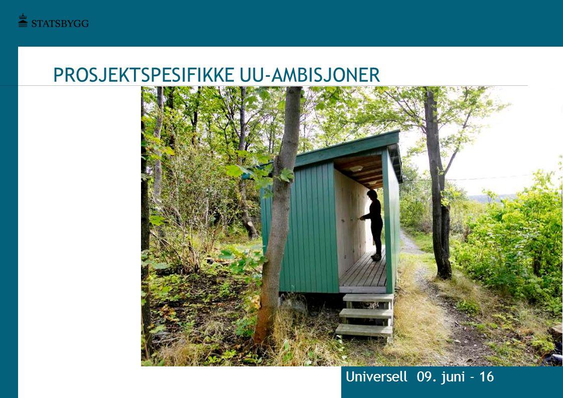 PROSJEKTSPESIFIKKE UU-AMBISJONER Universell 09. juni - 16