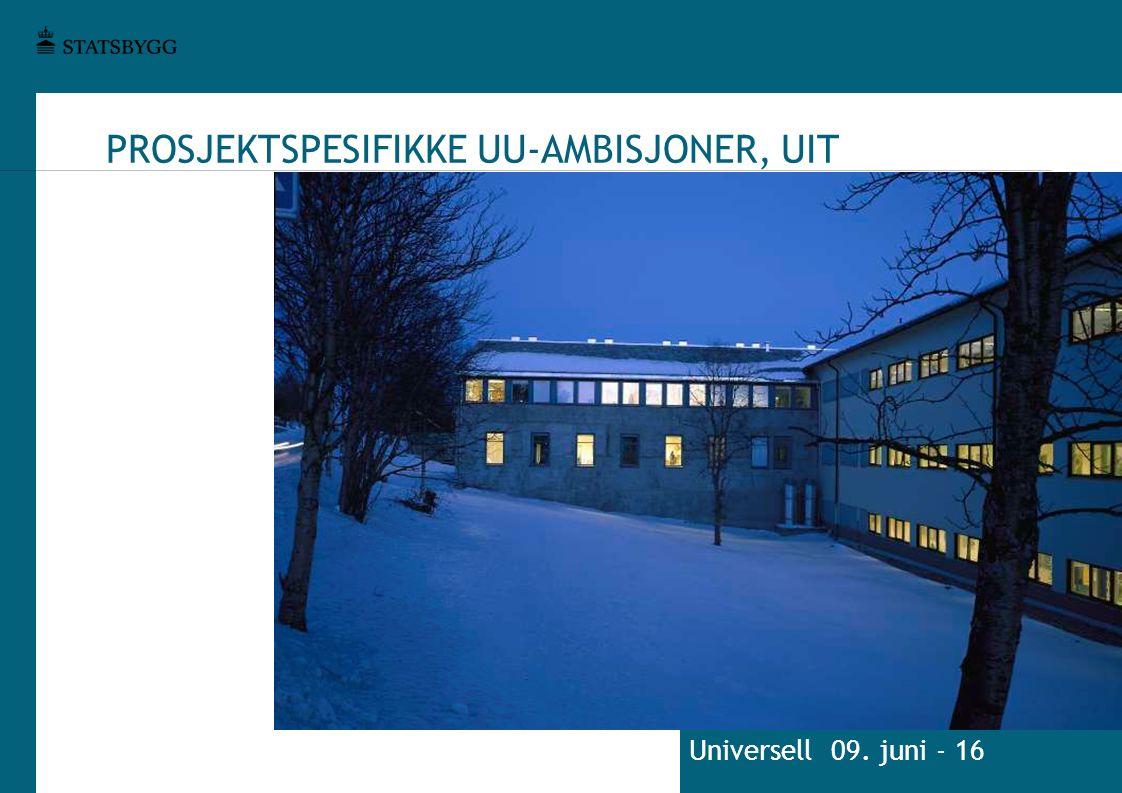 PROSJEKTSPESIFIKKE UU-AMBISJONER, UIT Universell 09. juni - 16