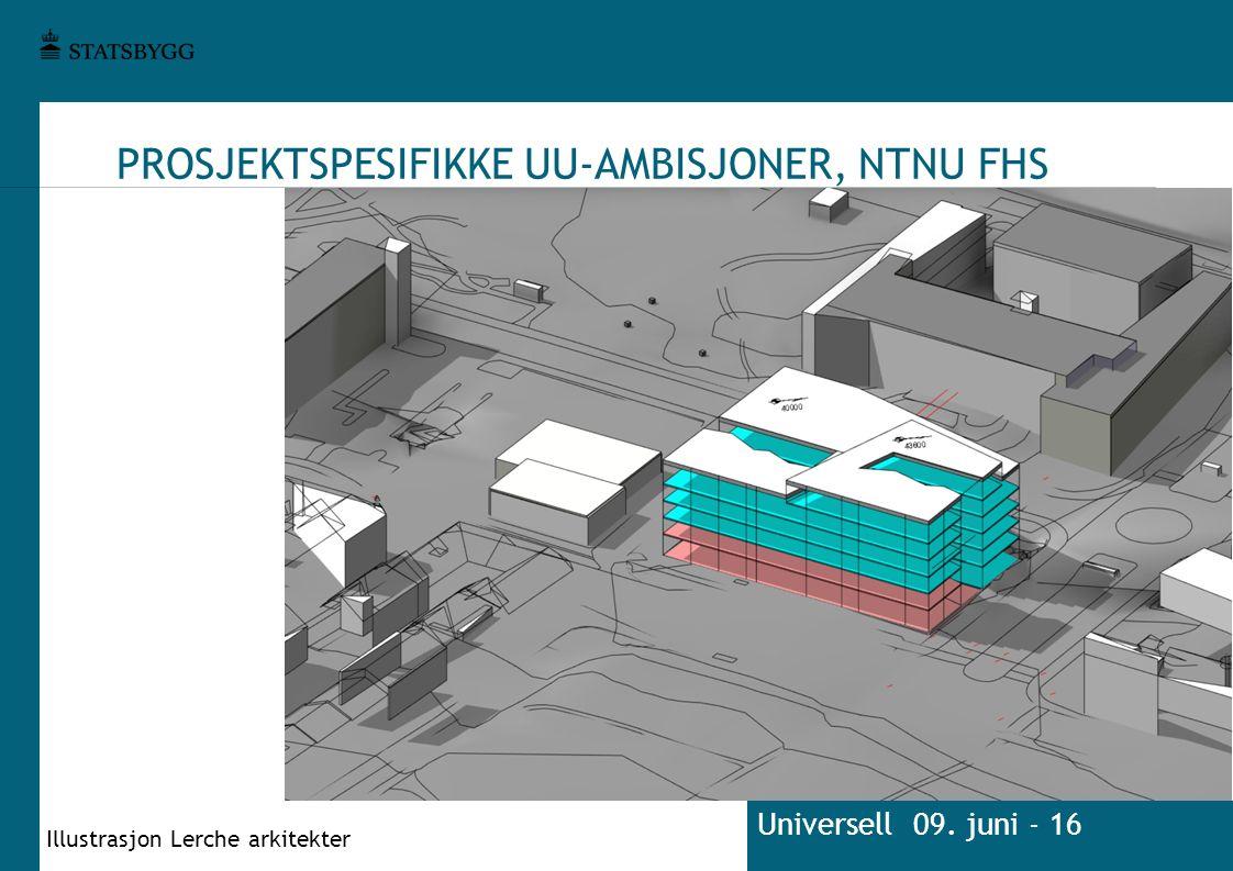 PROSJEKTSPESIFIKKE UU-AMBISJONER, NTNU FHS Universell 09. juni - 16 Illustrasjon Lerche arkitekter