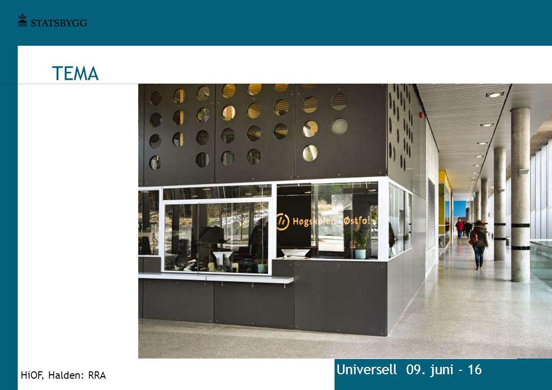 TEMA Universell 09. juni - 16 HiOF, Halden: RRA