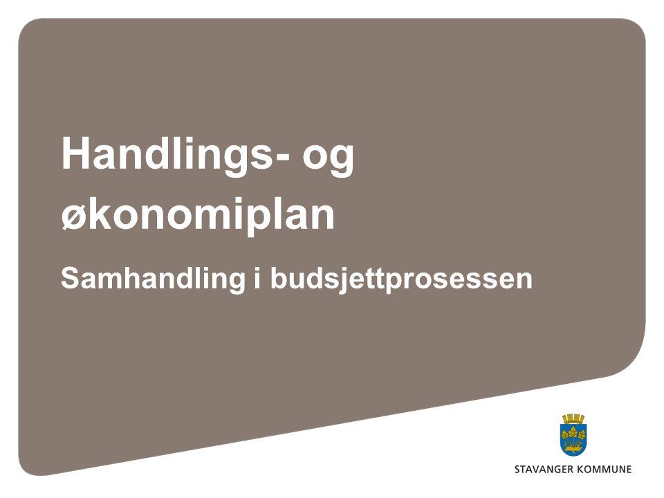 Handlings- og økonomiplan Samhandling i budsjettprosessen